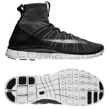 Nike Free Flyknit Mercurial Harmaa/Hopea/Musta
