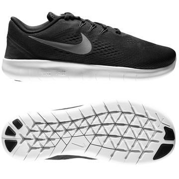 Nike Free Juoksukenkä Free RN Musta/Hopea Lapset