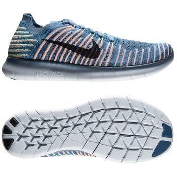 Nike Free RN Flyknit Sininen/Musta/Harmaa/Vihreä Lapset