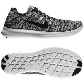 Nike Free RN Flyknit Valkoinen/Musta Lapset