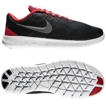 Nike Free RN Musta/Hopea/Punainen Lapset