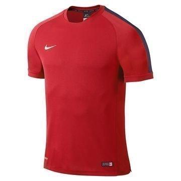 Nike Harjoittelu T-Paita Squad Flash Punainen/Laivastonsininen