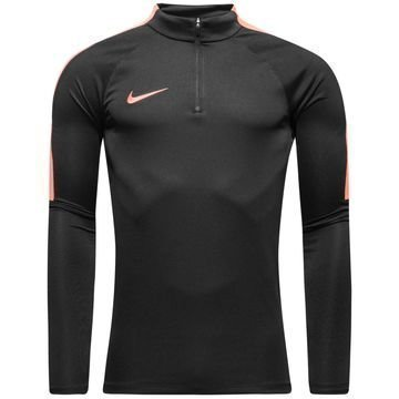Nike Harjoituspaita Midlayer Drill Top Musta/Oranssi