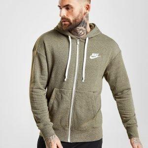 Nike Heritage Full Zip Hoodie Olive / White