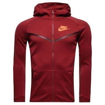 Nike Huppari Tech Fleece Viininpunainen/Oranssi Lapset
