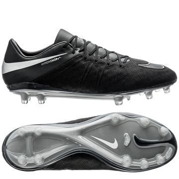 Nike Hypervenom Phinish Nahka FG Tech Craft Pack 2.0 Musta/Hopea