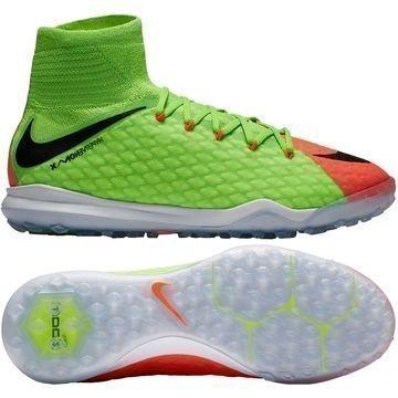 Nike HypervenomX Proximo 2 DF TF Radiation Flare Vihreä/Musta/Oranssi Lapset