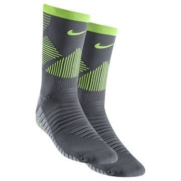 Nike Jalkapallosukat Strike Mercurial Crew Harmaa/Neon