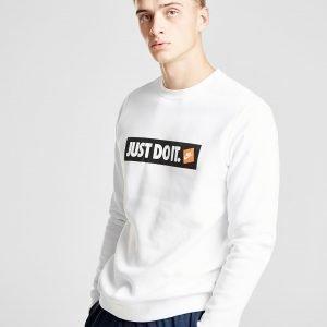 Nike Just Do It Logo Sweatshirt Valkoinen
