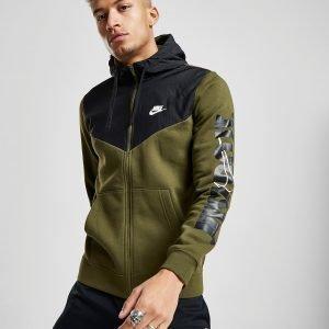 Nike Just Do It Sleeve Logo Hoodie Vihreä