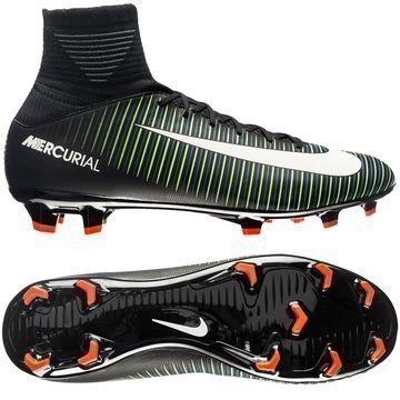 Nike Mercurial Superfly V FG Dark Lightning Pack Musta/Valkoinen/Vihreä Lapset