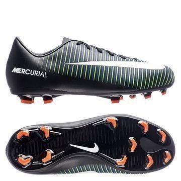 Nike Mercurial Vapor XI FG Dark Lightning Pack Musta/Valkoinen/Vihreä Lapset