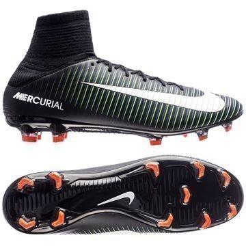 Nike Mercurial Veloce III DF FG Dark Lightning Pack Musta/Valkoinen/Vihreä