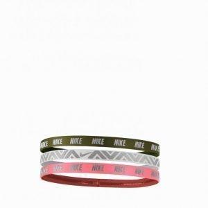 Nike Metallic Hairbands Hiuspanta Vihreä 3-Pakkaus