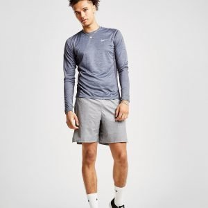 Nike Miler Long Sleeve Tech T-Shirt Harmaa