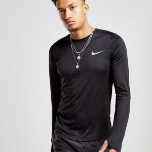Nike Miler Long Sleeve Tech T-Shirt Musta