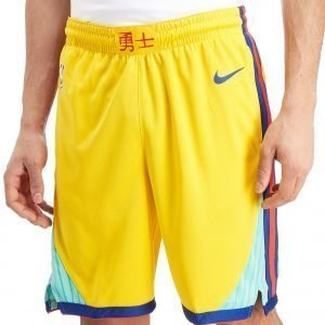 Nike Nba Golden State Warriors City Shorts Keltainen