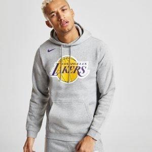 Nike Nba Los Angeles Lakers City Overhead Hoodie Harmaa