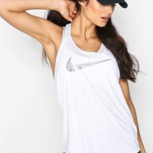 Nike Nk Brthe Tank Elastika Grx2 Treenitoppi Loose Fit Valkoinen