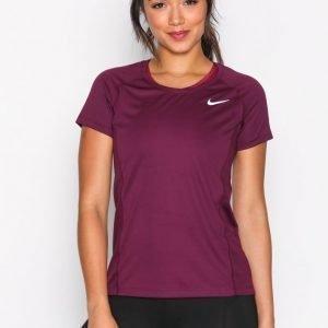 Nike Nk Dry Miler Top Crew Lyhythihainen Treenipaita Bordeaux