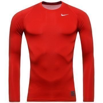 Nike Pro Cool Compression L/S Punainen