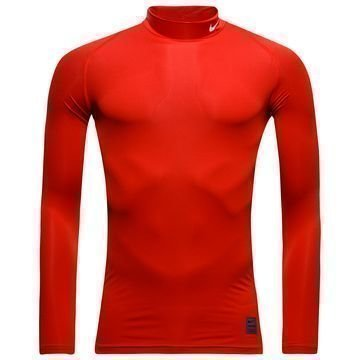Nike Pro Cool Compression Mock L/S Punainen