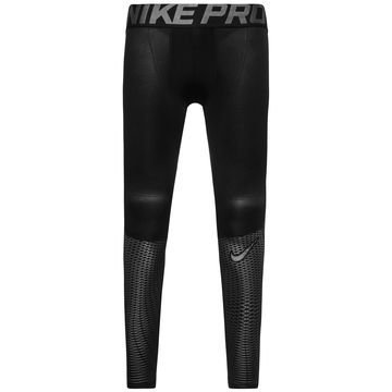 Nike Pro Hypercool Max Tights Musta/Hopea Lapset