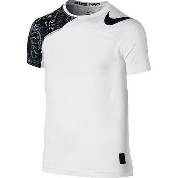 Nike Pro Hypercool Top AOP Valkoinen/Musta Lapset