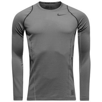 Nike Pro Hyperwarm Crew Harmaa/Musta