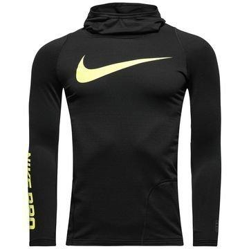 Nike Pro Hyperwarm Huppari Musta/Neon Lapset
