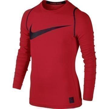 Nike Pro Hyperwarm Top Punainen/Musta Lapset