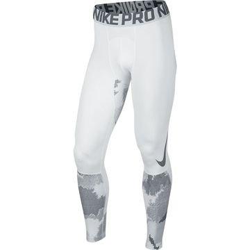 Nike Pro Hyperwarm Trikoot AOP Valkoinen/Harmaa