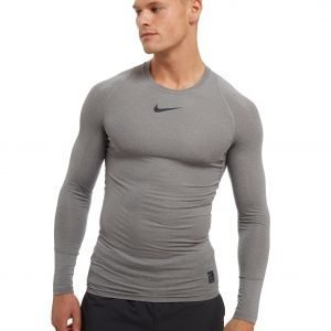 Nike Pro Long Sleeve Compression T-Paita Carbon / Grey