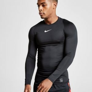 Nike Pro Long Sleeve Compression T-Paita Musta