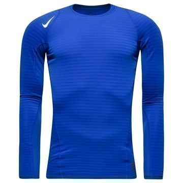 Nike Pro Warm Compression Crew Sininen