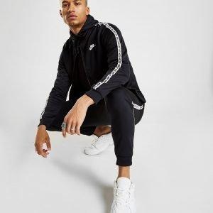 Nike Repeat Tape Full Zip Hoodie Musta