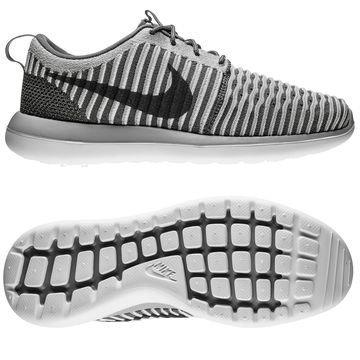 Nike Roshe Two Flyknit Harmaa/Valkoinen Lapset