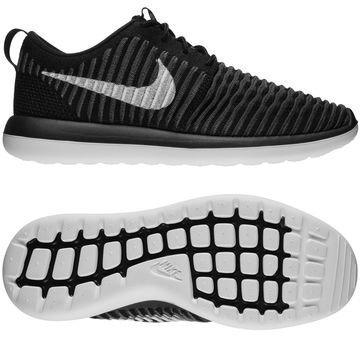 Nike Roshe Two Flyknit Musta/Valkoinen/Harmaa Lapset