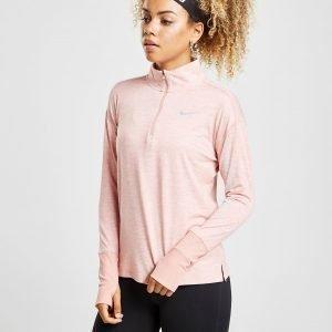 Nike Running Element 1/4 Zip Track Top Vaaleanpunainen