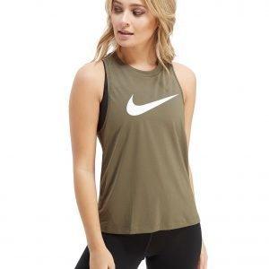 Nike Running Miler Swoosh Tank Top Khaki / White