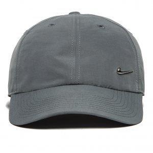 Nike Side Swoosh Lippis Charcoal Grey / Metallic Silver