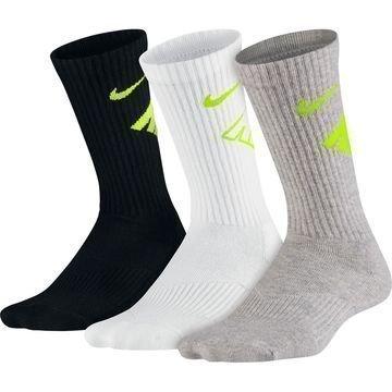 Nike Sukat Cushion Crew Graphic 3-pack Musta/Valkoinen/Harmaa Lapset