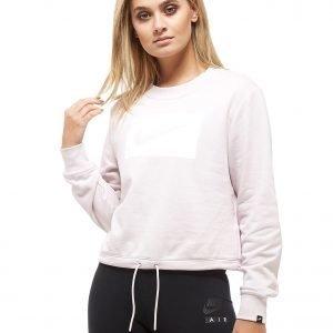 Nike Swoosh Box Cropped Crew Sweatshirt Vaaleanpunainen