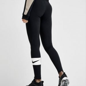 Nike Swoosh Box Leggingsit Musta