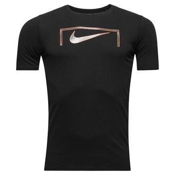 Nike T-paita Swoosh Goal Musta Lapset