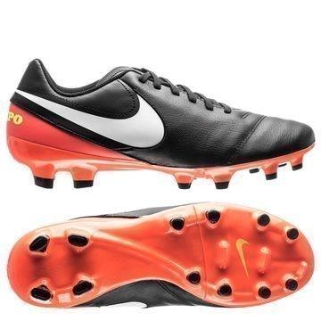 Nike Tiempo Genio II FG Dark Lightning Pack Musta/Valkoinen/Oranssi