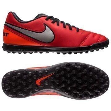 Nike Tiempo Rio III TF Punainen/Hopea