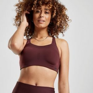 Nike Training Alpha Bra Burgundy / Black