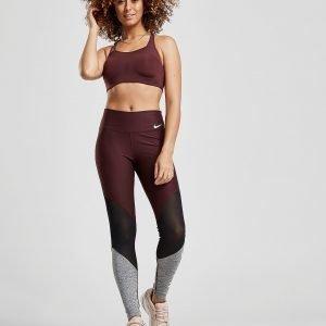 Nike Training Colour Block Mesh Tights Violetti