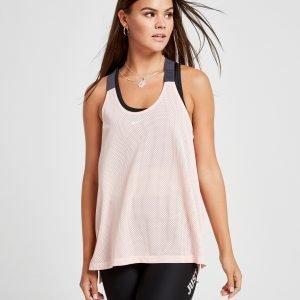 Nike Training Elastika Mesh Tank Top Vaaleanpunainen